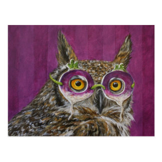 York the Party Owl postcard