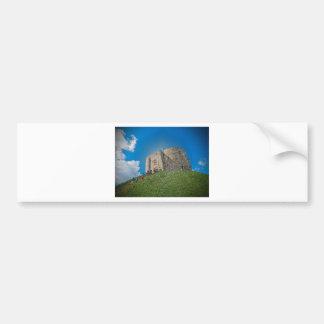York, torre de Cliffords del plástico Pegatina De Parachoque
