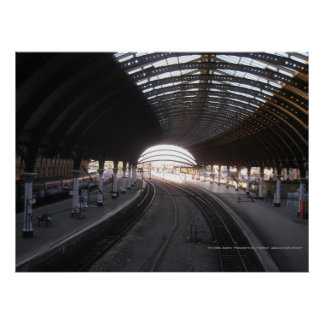 York Train Station, England - Poster