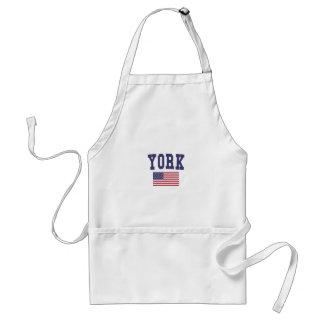 York US Flag Adult Apron