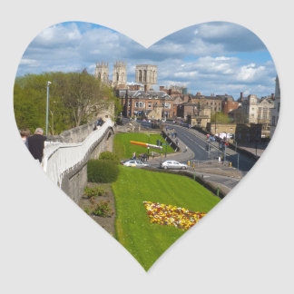 York walls minster heart sticker