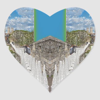 York Walls, the double take. Heart Sticker