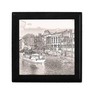York with pencil and tint keepsake box