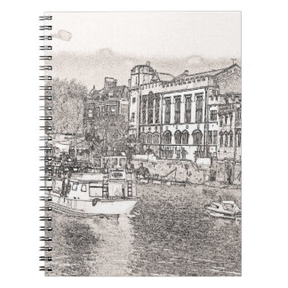 York with pencil and tint note books