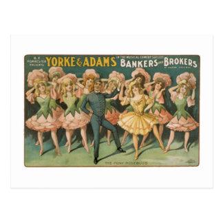 Yorke y panaderos y agentes de Adams los capullos  Tarjetas Postales