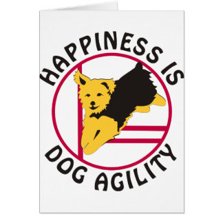 Yorkie Agility Happiness Card