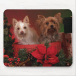 Yorkie and Friends Christmas Mouse Pad