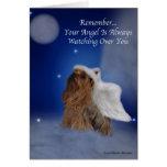 Yorkie Angel Star Greeting Card