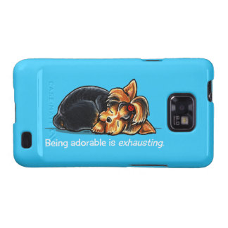 Yorkie Being Adorable Off-Leash Art™ Samsung Galaxy S2 Covers