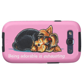 Yorkie Being Adorable Off-Leash Art™ Samsung Galaxy SIII Cases
