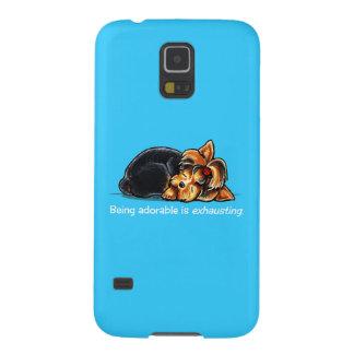 Yorkie Being Adorable Off-Leash Art™ Samsung Galaxy Nexus Cases