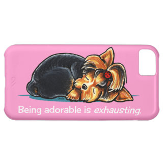Yorkie Being Adorable Off-Leash Art™ iPhone 5C Covers