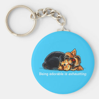 Yorkie Being Adorable Off-Leash Art™ Keychain