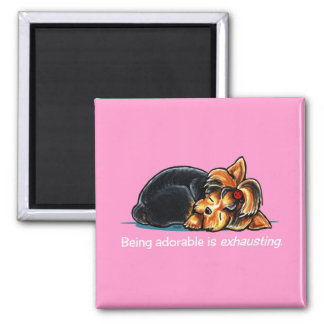 Yorkie Being Adorable Off-Leash Art™ Magnet