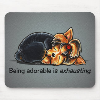 Yorkie Being Adorable Off-Leash Art™ Mouse Pad