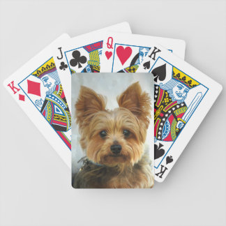 Yorkie Bicycle Playing Cards