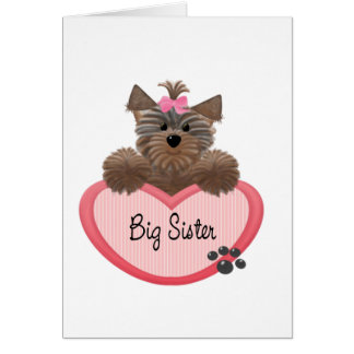 Yorkie Big Sister Card