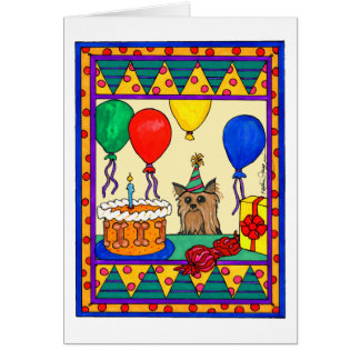 YORKIE BIRTHDAY GREETING CARD