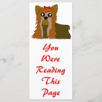 Yorkie Bookmark Template
