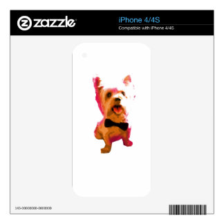 Yorkie Bowtie Skins For iPhone 4S
