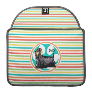 Yorkie; Bright Rainbow Stripes Sleeves For MacBooks
