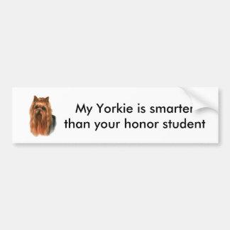 Yorkie bumper sticker car bumper sticker