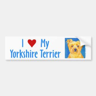 """Yorkie Bumper Sticker - """"Sammy"""""""