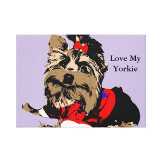 Yorkie Canvas Poster Love My Yorkie!