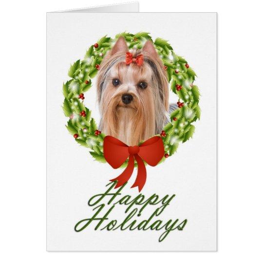Yorkie Christmas Card