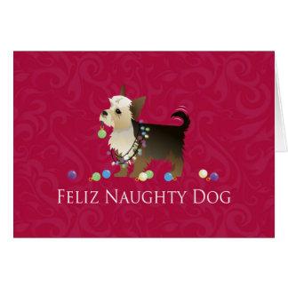 Yorkie Christmas Design Card