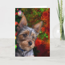 Yorkie Christmas Holiday Card