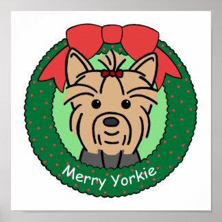 Yorkie Christmas Poster