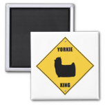Yorkie Crossing (XING) Sign Fridge Magnet