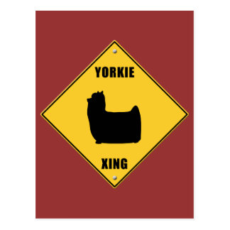 Yorkie Crossing (XING) Sign Postcard