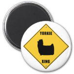 Yorkie Crossing (XING) Sign Refrigerator Magnet