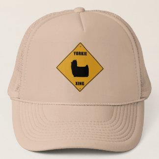Yorkie Crossing (XING) Sign Trucker Hat