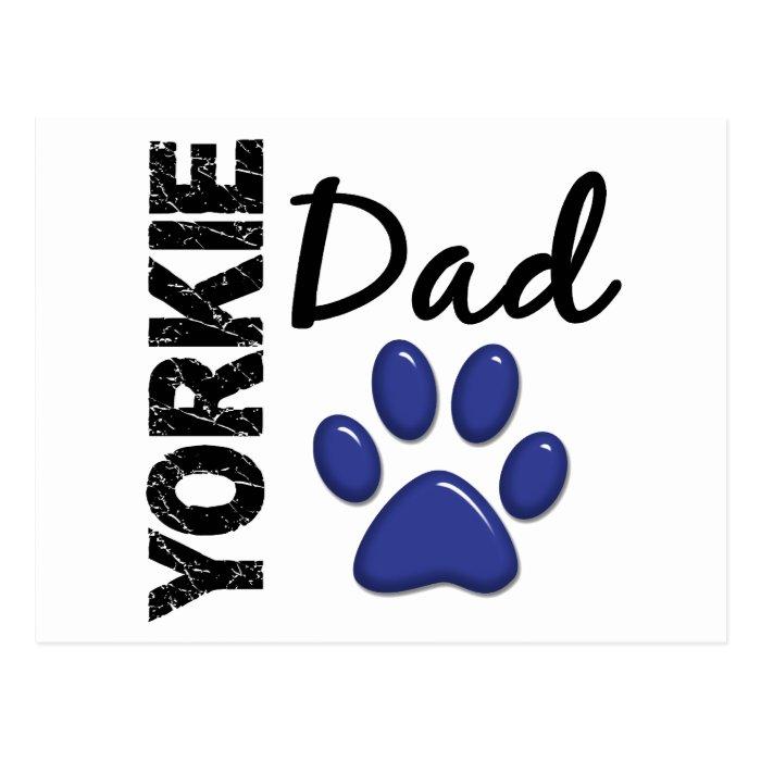 Yorkie Dad 2 Postcard