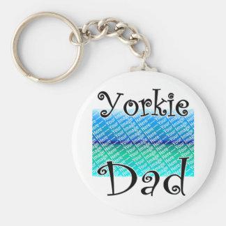 Yorkie DAD Basic Round Button Keychain