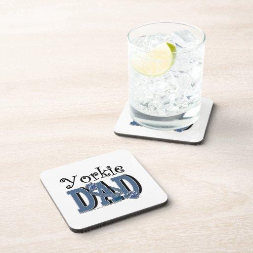 Yorkie DAD Beverage Coasters