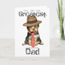 Yorkie Dad Card