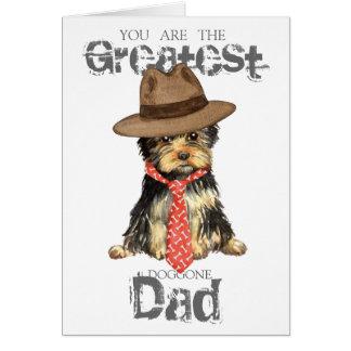 Yorkie Dad Greeting Card