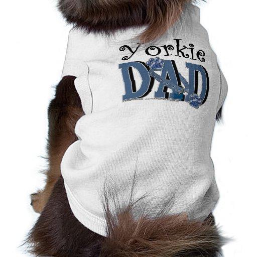 Yorkie DAD Doggie Tshirt