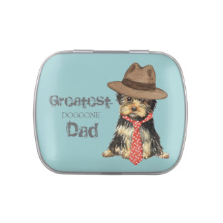 Yorkie Dad Jelly Belly Candy Tin