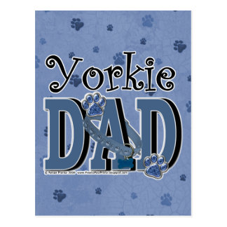Yorkie DAD Postcard