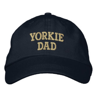 Yorkie DAD Yorkshire Terrier Gifts Embroidered Baseball Hat