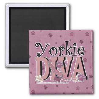 Yorkie DIVA Fridge Magnet