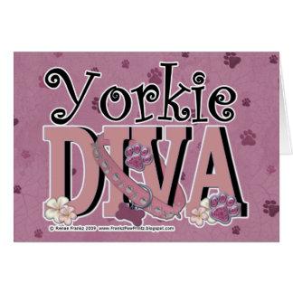 Yorkie DIVA Greeting Card