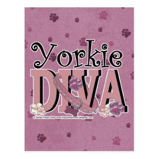 Yorkie DIVA Postcard
