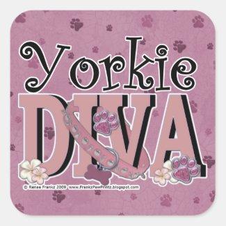 Yorkie DIVA Stickers