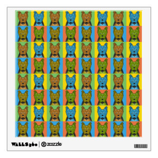 Yorkie Dog Cartoon Pop-Art Wall Decal